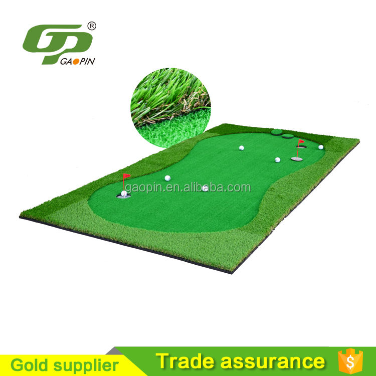 Indoor Golf green putting matte 5' * 10' Füße mit 10MM Gummi basis