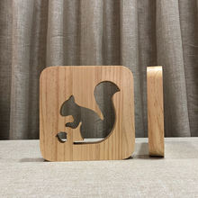 2019 Fullsun New product squirrel shape creative cute light of wood material for home decor