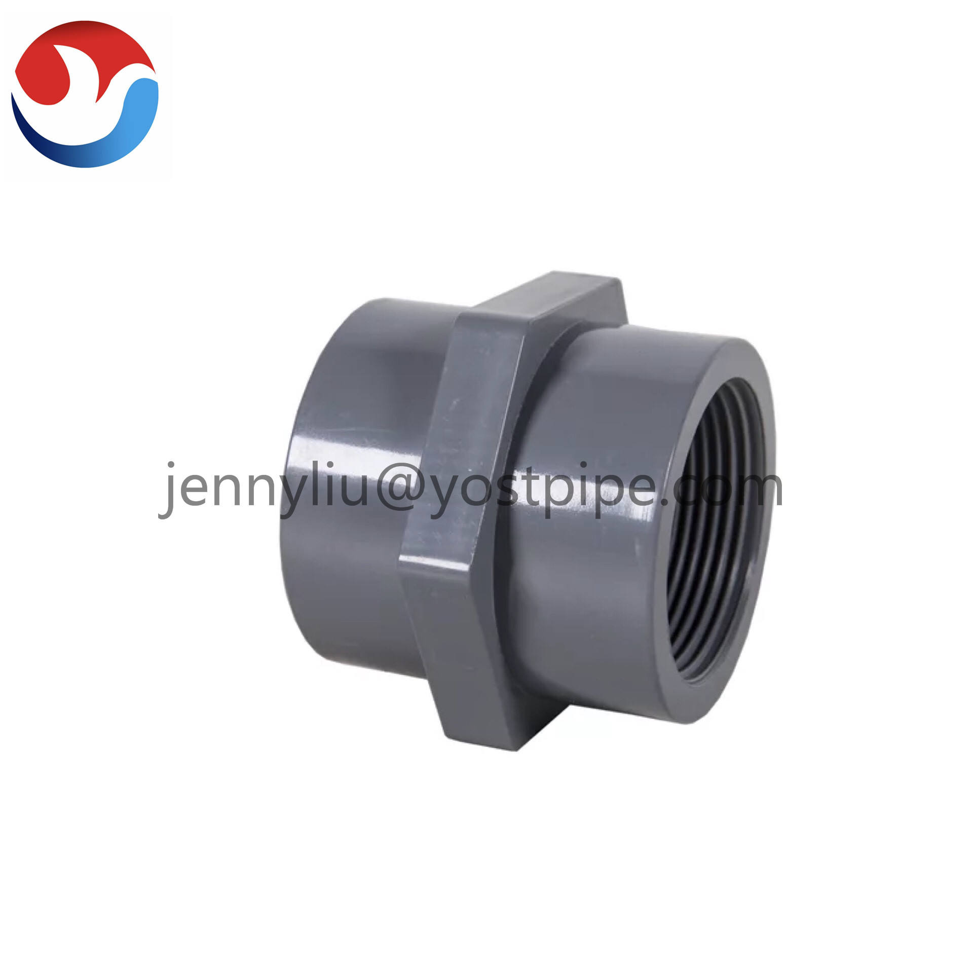 PVC Pipe Fitting for Potable Water Supply 200mm 8 inch Butterfly Valve Plastic Male Adaptor