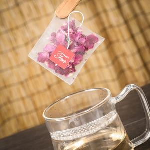 Biodegradable Tea Bag Empty Corn fiber Pyramid Tea Bags With String For Tea Packaging