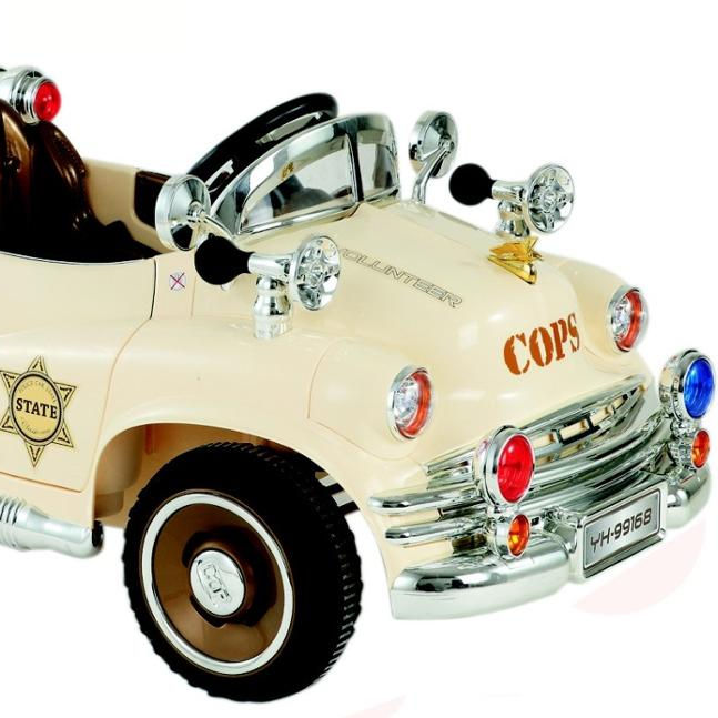 classic police ride on RC toy cars for children battery power ride on car openable door
