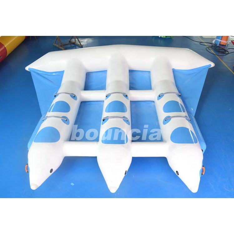 Factory Price Water Game Inflatable Fly Fish / Flying Inflatable Water Sled For Towable Sport