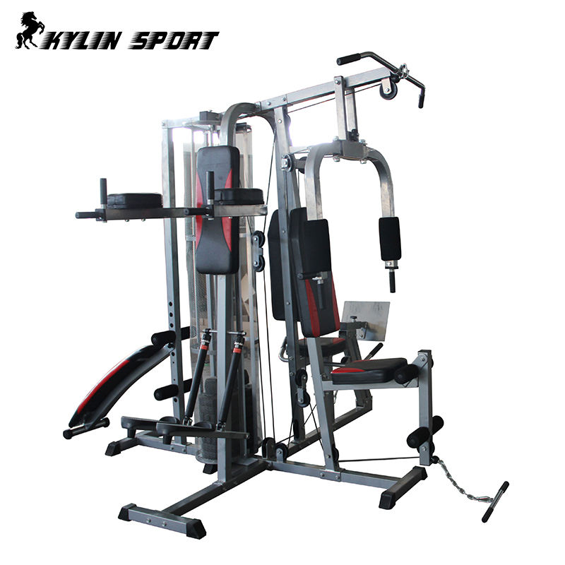 4 Station Home Gym Multi-functional Equipment With Protecting Net Cover&Weights