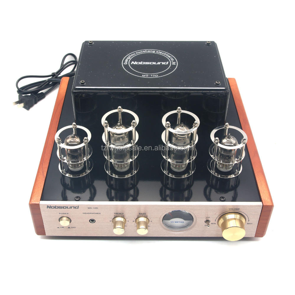Amplifier Suara Stereo Tabung MS-10D 220V Nobsound Headphone HiFi Audio Stereo Amp