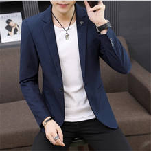 Wholesale men suit jacket casual Korean version of men's wedding suit slim small suit jacket