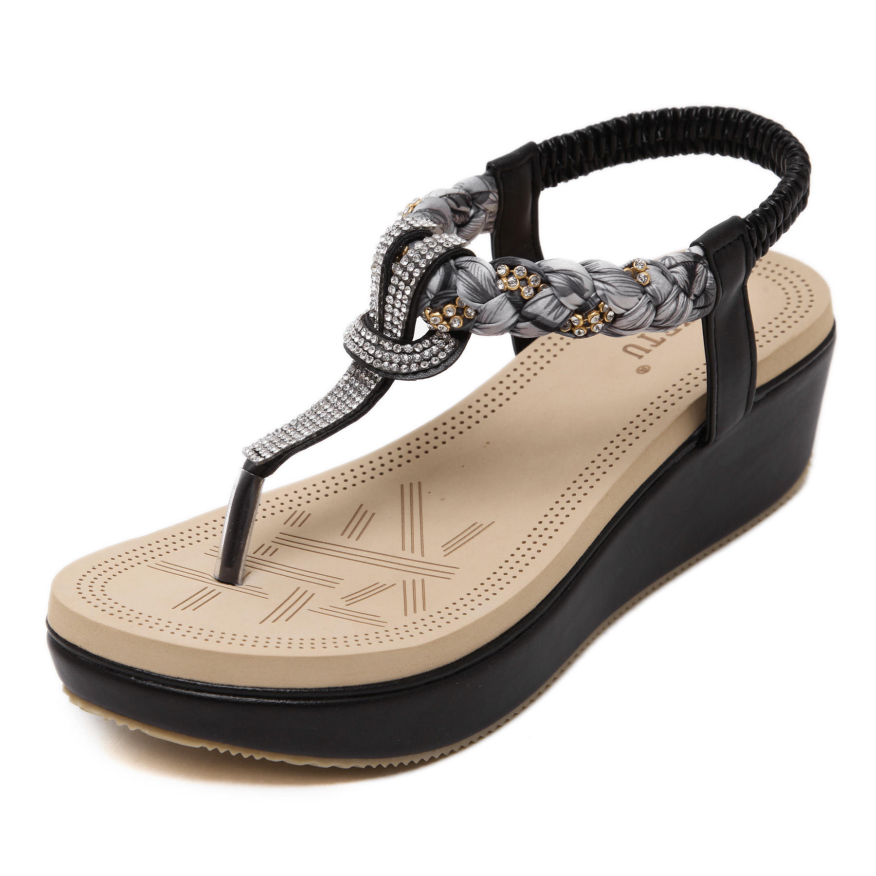 Wholesale Summer Ethnic Style Flat Sandals For Women