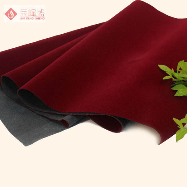 China Supplier Non woven Flocked Velvet Fabric For Pouch with adhesive