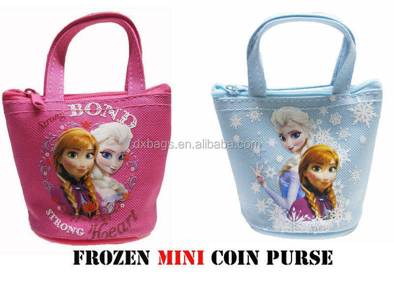 Alibaba China Frozen Mini Coin samll monedero, bolso, bolsa de mercado