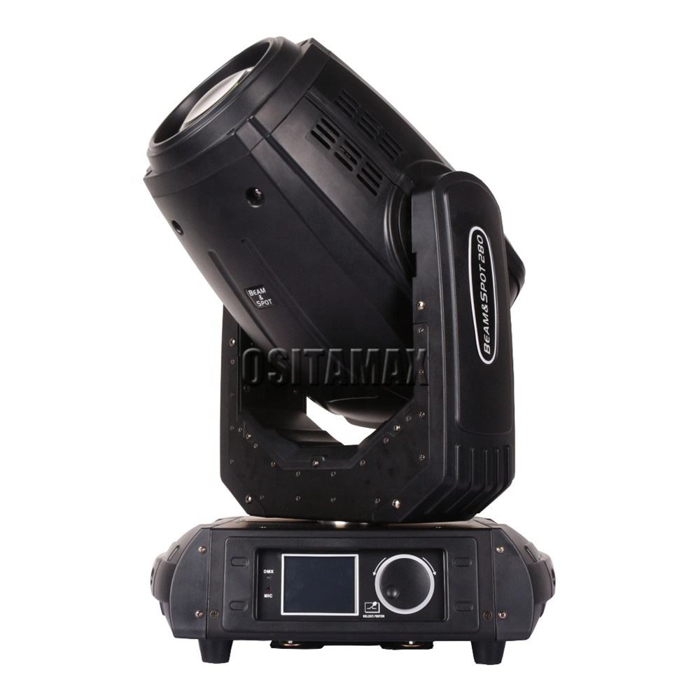 3in1 moving head 280w 10R beam spot wash effect professional stage light with flight case