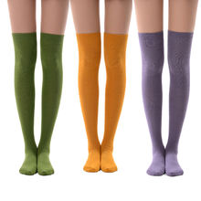 MEIKAN 18 Color Custom Over the Knee Socks Pack Compression Women Coloured Thigh High Socks