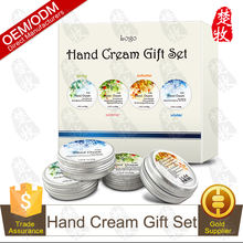 OEM Manufacturer Supply Hand Care Cream Gift Set 50g*4,Whitening,Moisturizing and Anti-aging