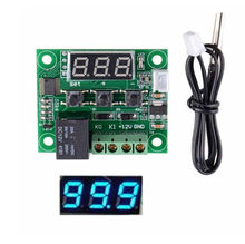 W1209 Digital Blue LED Display DC 12V Heat Cool Temp Thermostat Temperature Control Switch Module On Off Controller Board + NTC