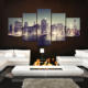 Beautiful City Night Scene Wall Art Cheap China Custom Canvas Prints on Canvas