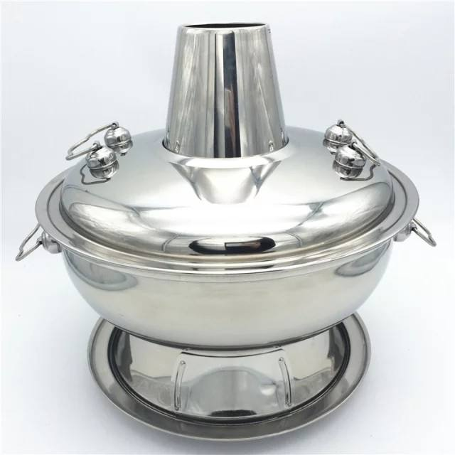 28cm,32cm,34cm Stainless Steel Cooking Pot / China Traditional Charcoal Burner Hot Pot