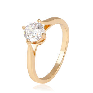 14044 Xuping diamant mode schmuck, Fashion big diamond engagement ring, 18K Gold Überzogen hochzeit Ringe