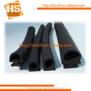 D Shape Sponge Rubber door seals - Open Cell Natural Rubber china rubber factory