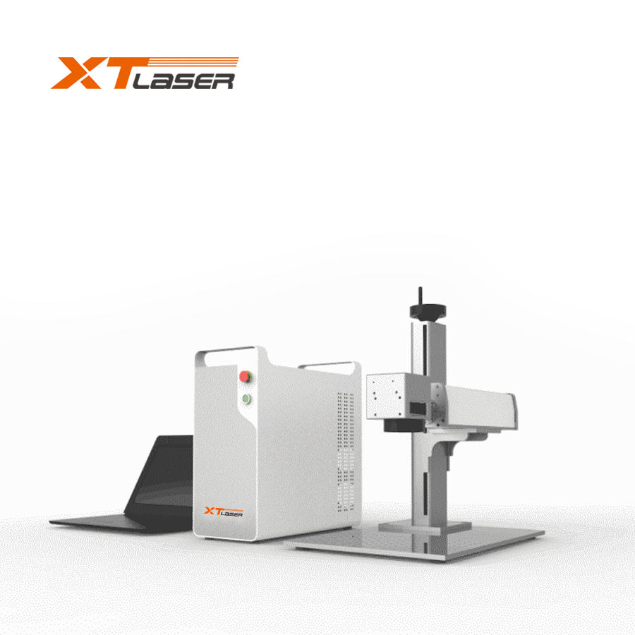 50w Jewelry silver gold brass cutting fiber laser marking machine in Middle East