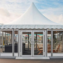 luxury glass wall canopy tent 10x10 pagoda tents for sale