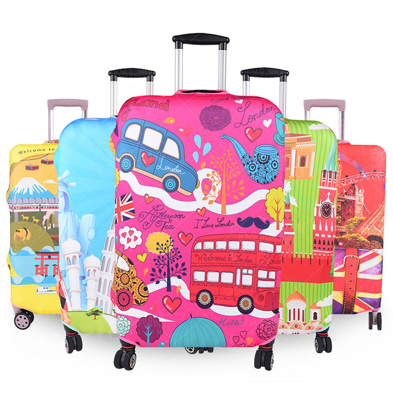 Christmas White Gifts Travel Luggage Protector Case Suitcase Protector For Man/&Woman Fits 18-32 Inch Luggage