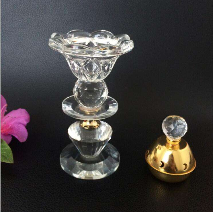 wholesale crystal clear special design shaped oil burner