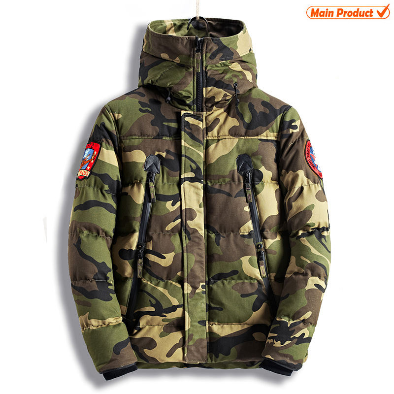 Commercio all'ingrosso Camo Hoodie Army Tactical Militare Parka di Inverno Giacca Mimetica Uomo Vestiti Cappotto