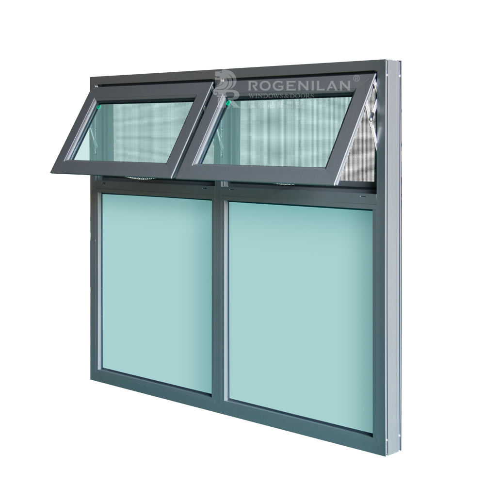 ROGENILAN 100 series Australian Standard AS2047 aluminium awning windows with chain winder