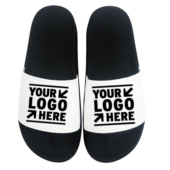 Eva Plain Slide Sandal,Black Pvc Mens Slide Sandal Custom Logo Slide Sandal Men woman Slipper