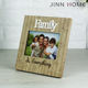 Family Wooden Frame - Picture Frame - Wedding Gift - Personalized Gift - Customized Wooden Picture Frame - Christmas Gift laser