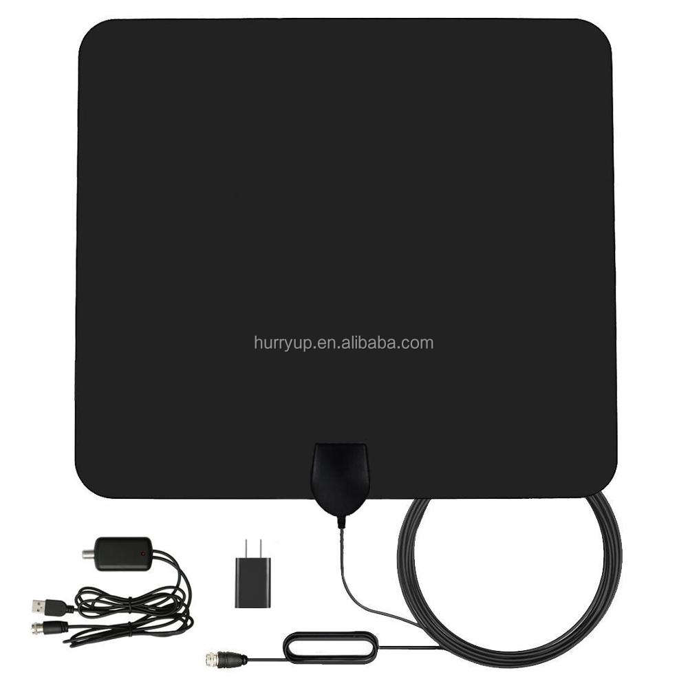 VHF UHF TV Antenna 50 Miles Amplified HD Digital Indoor Adapter Coax Cable TV Antenna