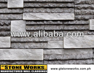 MANUFACTURED STONE WALL CLADDING - RAZORLEDGE Ebony