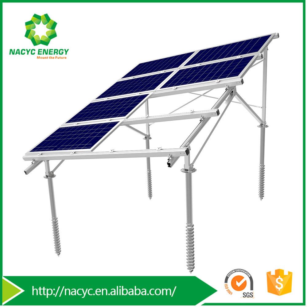 Cambiamento di stagione Alluminio Solare Sistema di Montaggio per Terreno In Pendenza