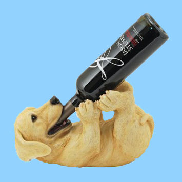 Dog shape wine bottle holder, animal wine bottle holders