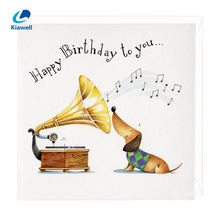 Special birthday gift handmade custom printing music congratulation card