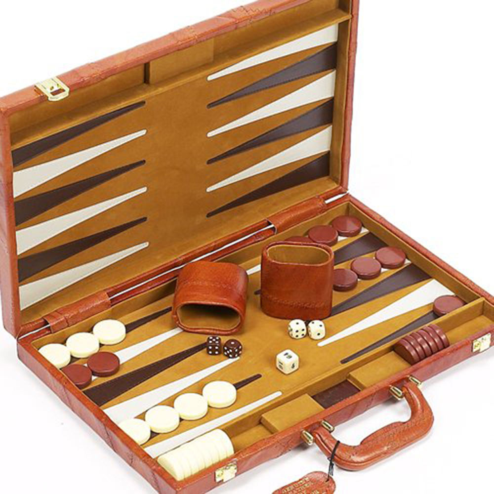 Manufacturer High Quality Newest PU Leather 3 in 1 Chess Games Luxury Backgammon Sets