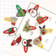Hot Sale High Quality Cute Santa Claus Christmas hat Hair Accessories Christmas Style Hair Clips BB Clip for Baby Girls