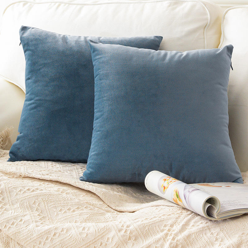 Silk Velvet Decorative Throw Cushion Cover Square Pillow Case for Sofa Bedroom Couch Car 45cm x45cm