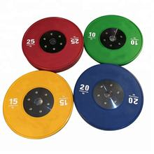 Most Popular Colorful Fit Weightlifting Rubber Bumper Weight Plate
