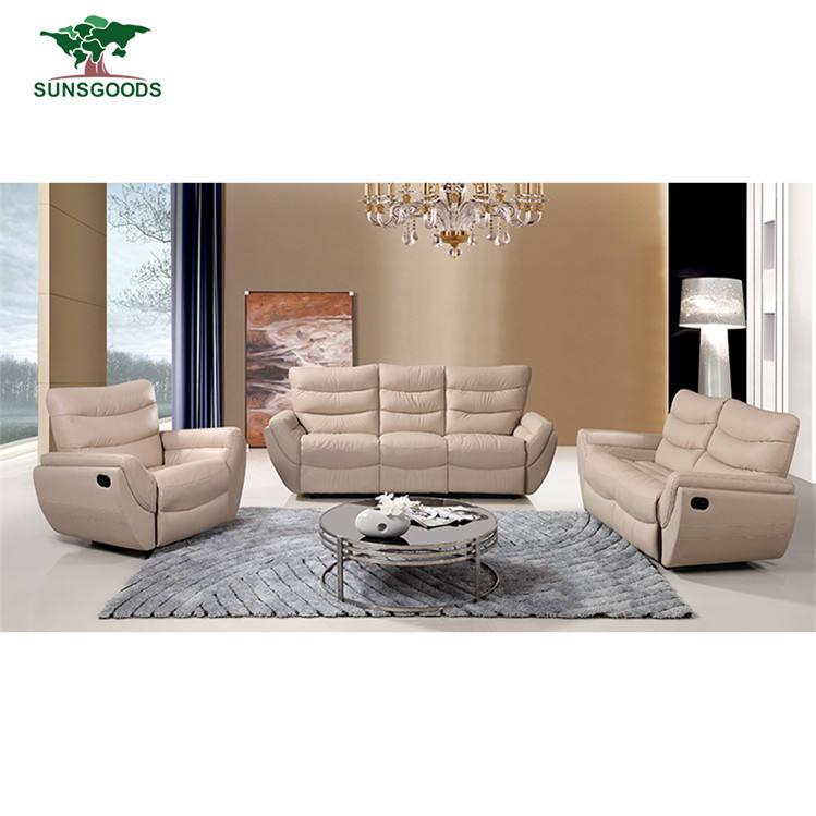 Sofá de calidad superior piel regenerada reclinable pequeños muebles reclinables para la venta