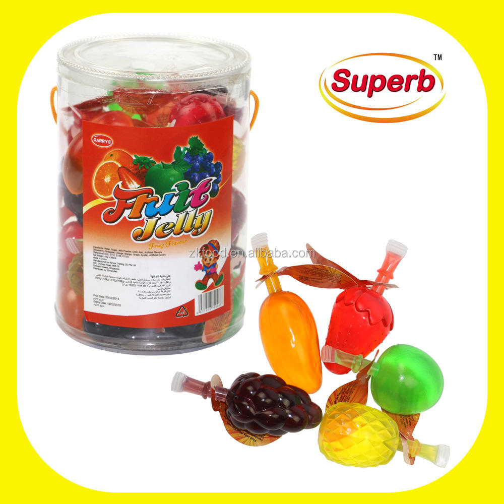 Fruity flavor 45g fruit shaped jelly good quality fruit yummy jelly