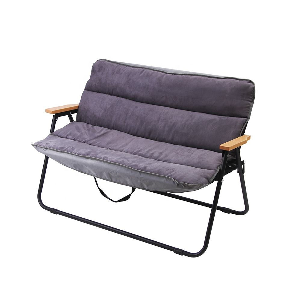 TYA Outdoor Folding Picknick camping metall Aluminium Stuhl großhandel OEM bench Mit low Back Rest für Freizeit Bank