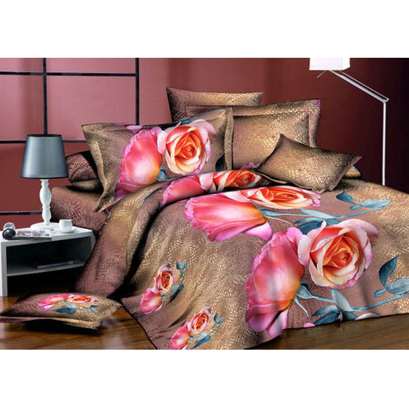Cheap material polyester peach skin bedsheet fabric textile