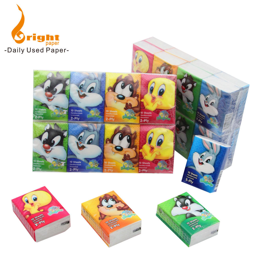 Customized advertising Mini Facial Pocket Tissue
