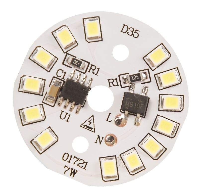 Smd2835 35 Mm 7 W LED Aluminium Base Lampu Bohlam PCB Papan Sirkuit