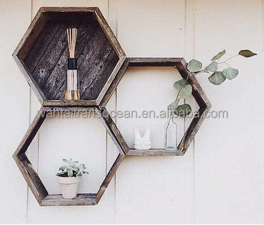 Gift for her mom/hexagon shelves/Christmas idea,rustic antique basket furniture/french apple wooden crate/farmhouse decor/plante