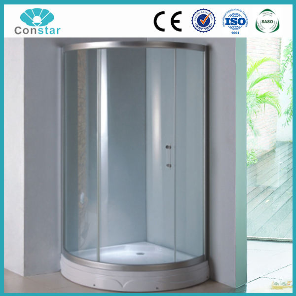 현대 광택 컴팩트 샤워 사분면 샤워 트레이 조립식 욕실 샤워