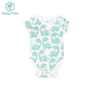 Happyflute New Design Organic Cotton Baby Summer Clothes Romper Reusable Cute Romper