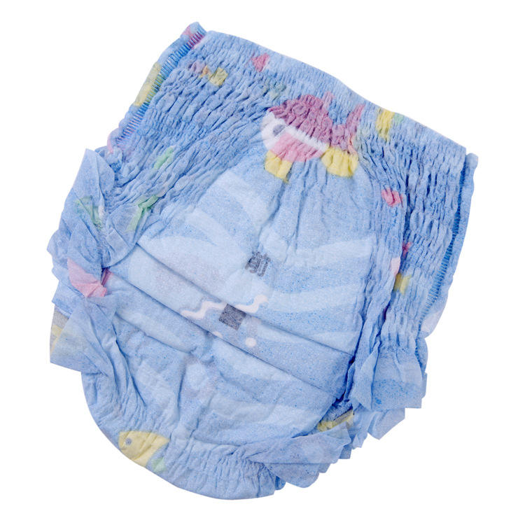 Cotton soft nonwoven topsheet cheap price disposable baby diaper pants
