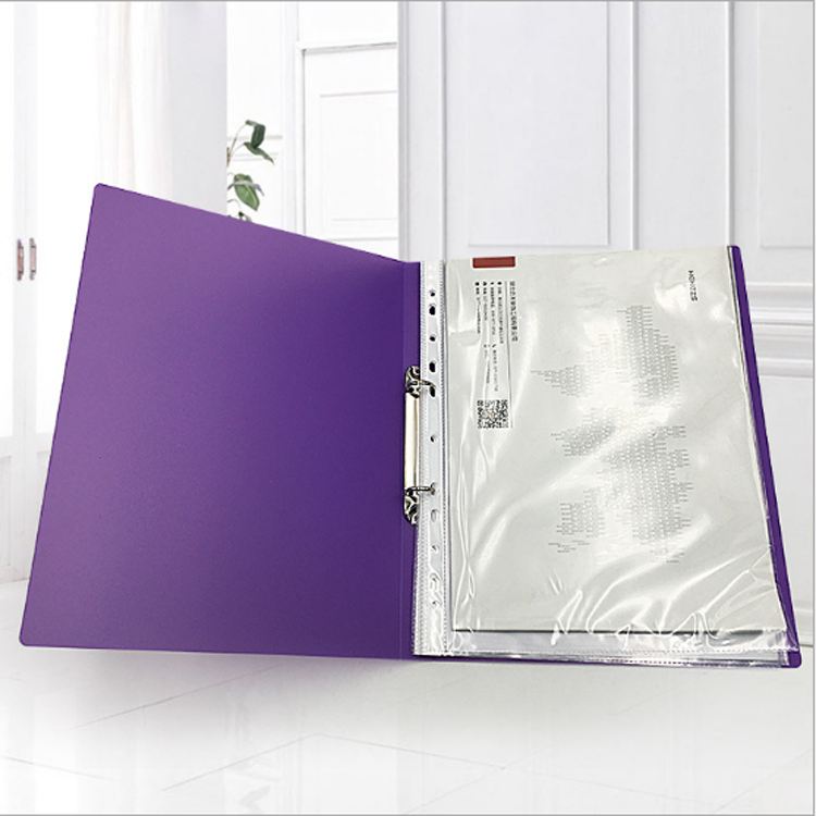 a4 pvc loose-leaf 2 O ring binder