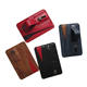 Promotional PU Leather Cell Phone Security Strap Card Holder for Mobile
