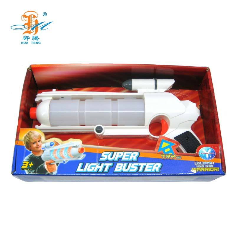 Most popular plastic flashing light up laser gun toy for children